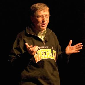 At the University of Waterloo, Bill Gates is a bigger draw than Britney Spears and Paris Hilton combined